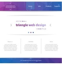 Web interface vector