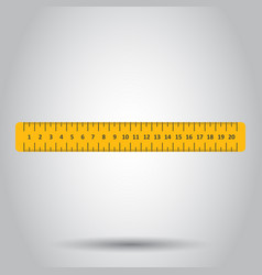 Yellow ruler instrument of measurement vector