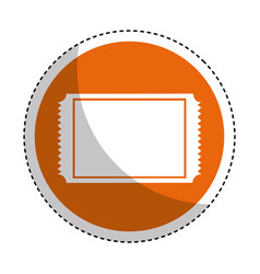 cinema ticket isolated icon vector image vector image