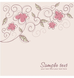 Floral twirl postcard vector image vector image
