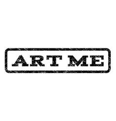 art me watermark stamp vector image vector image