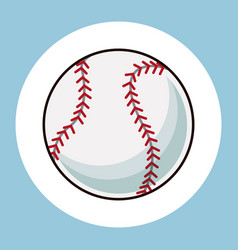baseball ball equipment icon vector image