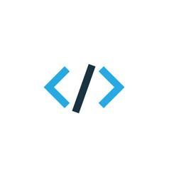 code colorful icon symbol premium quality vector image