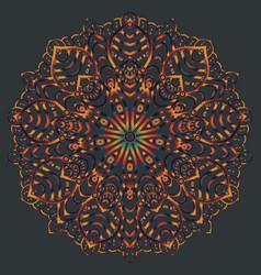 ethnic mandala design eastern pattern round vector image vector image