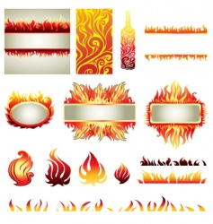 flame design elements vector image