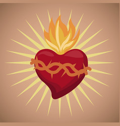 sacred heart blessed image vector image