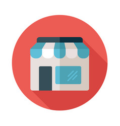Store front isolated icon vector