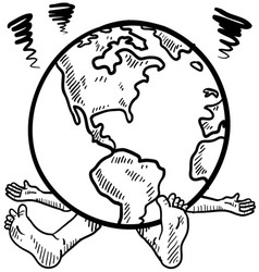 doodle squash earth vector image