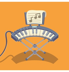 Electronic musical keyboard vector image