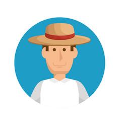 gardener man icon vector image vector image