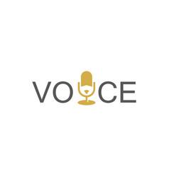 microphone voice logo vector image