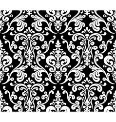 Seamless elegant damask pattern Black and white vector image vector image