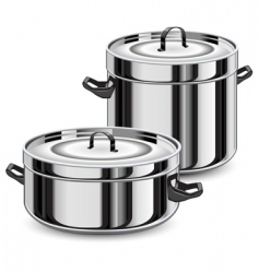 set of pans vector image vector image