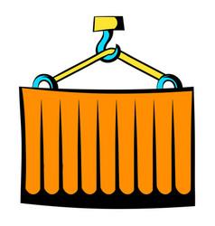cargo container icon cartoon vector image