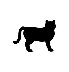 cat silhouette vector image