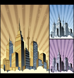 cityscape vertical vector image vector image