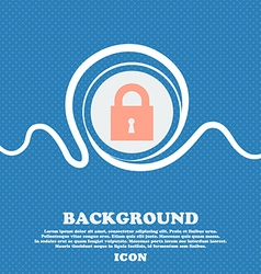 closed lock sign icon Blue and white abstract vector image
