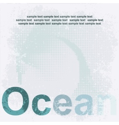 Design Ocean poster vector image