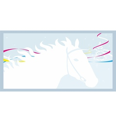 Horse and winter vector image vector image
