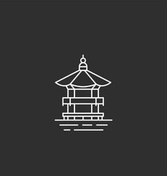 korea landmark in outline style vector image