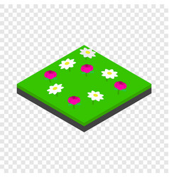 meadow landscape isometric icon vector image vector image