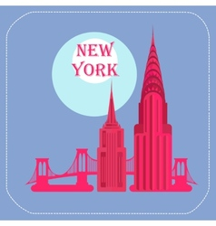 New York Empire State Building Chrysler Building vector image