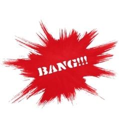 Red burst background vector