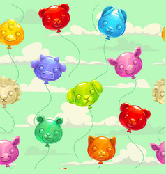 seamless pattern with colorful animal shaped vector image vector image