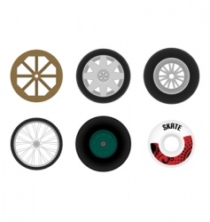 set of different wheels vector image vector image