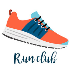 shoes with text run club vector image