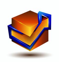 3d symbol creative design vector