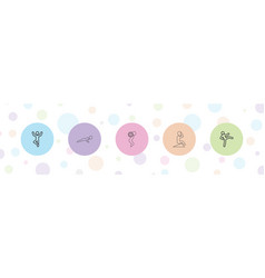 5 abs icons vector