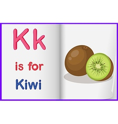 A picture of a kiwi fruit in a book vector image