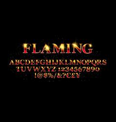 Abstract flaming font vector