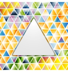 Abstract glossy triangles pattern vector