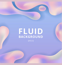 abstract trendy fluid or liquid shape pastel vector image