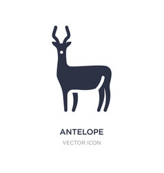 Antelope icon on white background simple element vector