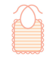 Baby bib isolated vector
