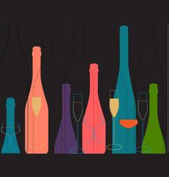 Background bottle color vector