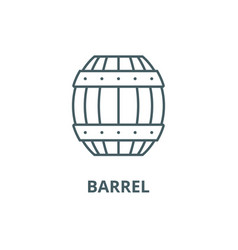 barrel line icon barrel outline sign vector image