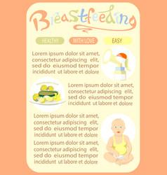 Breastfeeding newborn template of page vector