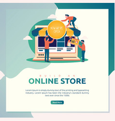 build an online store vector image