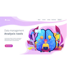 Business intelligence concept landing page vector