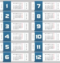 Calendar colorful vector