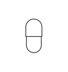 capsul red pill thin line icon linear vector image