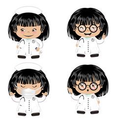 Cartoon female doctor vector