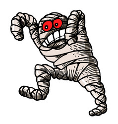 Cartoon image of bandaged mummy vector