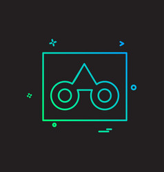 casette icon design vector image