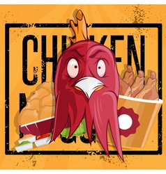 Chicken time fast food vector