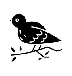 christmas bird black icon concept vector image